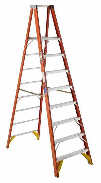 Platform Ladder Werner Step Ft Fiberglass Ladders