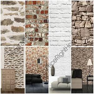 Mur Effet Brique : muriva effet brique papier peint couleurs vari es disponible aspect mur ebay ~ Melissatoandfro.com Idées de Décoration