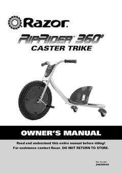 Razor Riprider 360 Drifting Trike Blue - 3-Wheeled