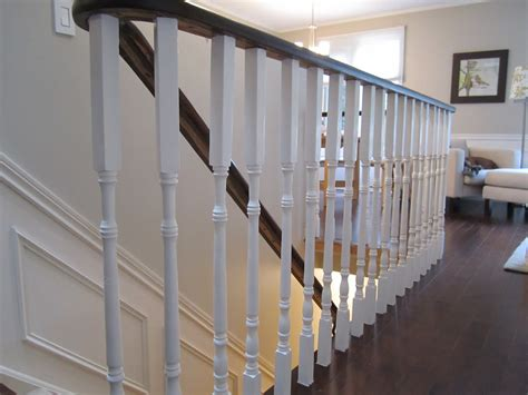 Oak Banister Rails by Remodelaholic Updating An Oak Stair Or Handrail To White