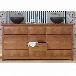 Meuble Chaussure Maison Du Monde : meuble bas de salle de bain teck jimbaran ~ Teatrodelosmanantiales.com Idées de Décoration