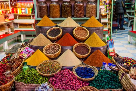 maroc cuisine traditionnel spices in a moroccan souk guido todarello flickr