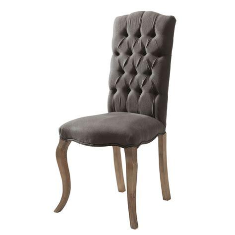 chaise capitonnée en et frêne grise chloé maisons du