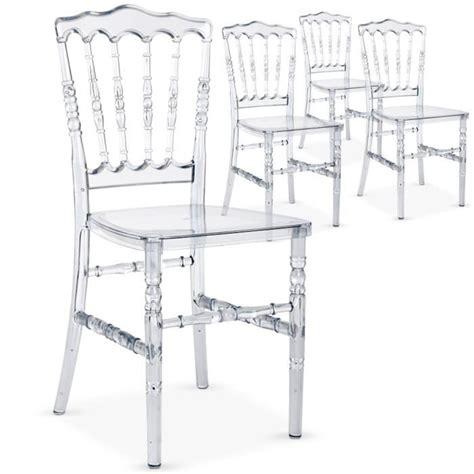 chaises en plexiglas lot de 4 chaises napoleon plexi transparent achat