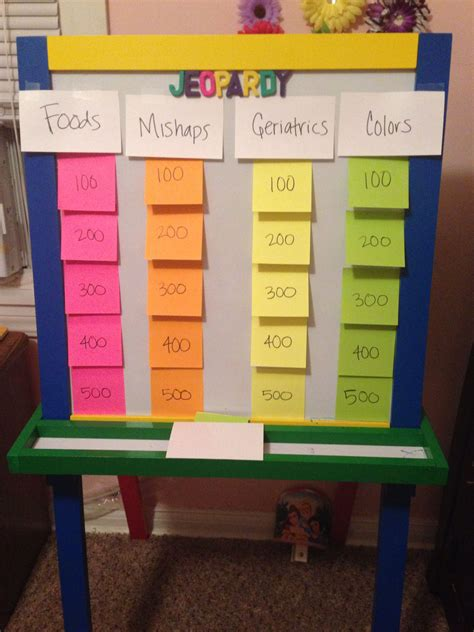 jeopardy baby shower game create  categories