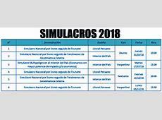 Simulacros y simulaciones para el 2018Noticias más