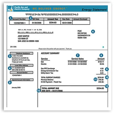 pg e customer service phone number account number