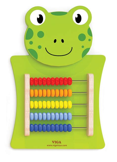 viga toys wall game abacus frog  classic toys