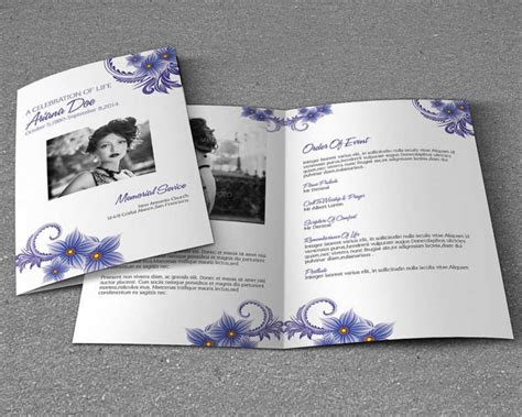 Funeral Brochure Template Word 37 Funeral Brochure Templates Free Word Psd Pdf Exle
