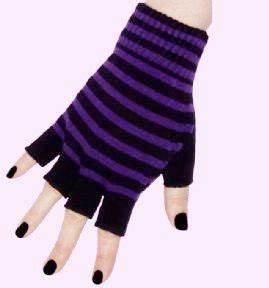 emo gloves | Purple and Black Short Emo Fingerless Gloves ...