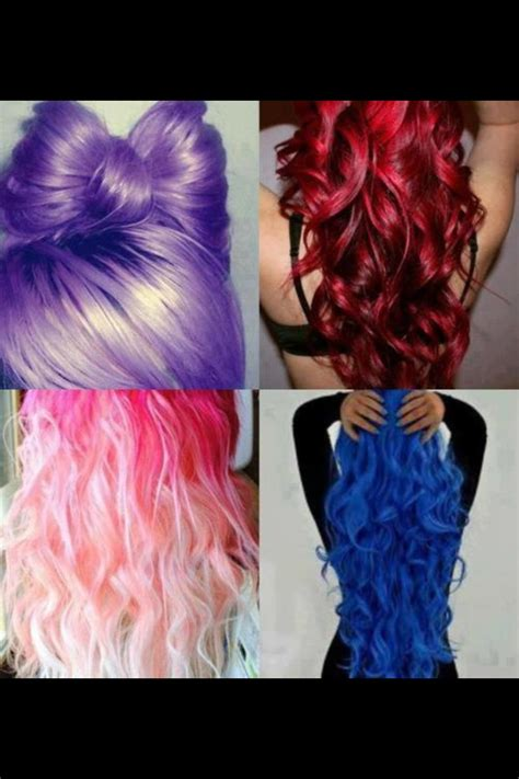 Different Color Hair Hair Styles Pinterest Colors