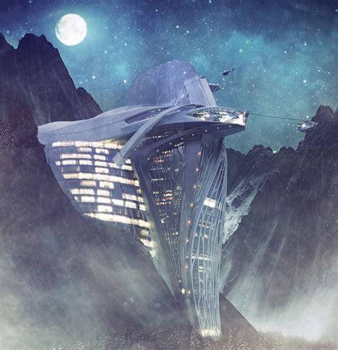 Semiotic Alpine Escape futuristic Hotel concept   WordlessTech