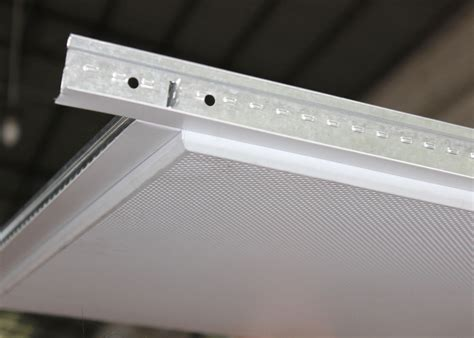 lay in acoustic ceiling tiles sheet installed with t grid