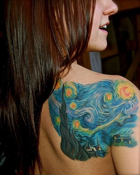 Starry Night Tattoos Designs, Ideas and Meaning | Tattoos