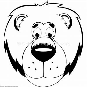Cute Lion Head Coloring Pages – GetColoringPages.org