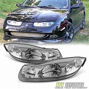 2001 2002 Saturn Sc Series Sc1 Sc2 Coupe Headlights Head Lamps Left Right 01