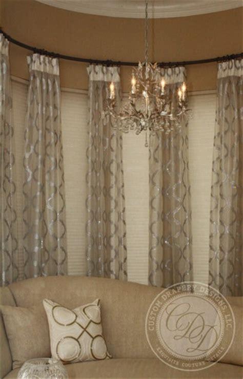 sheers   curved rod drapery designs window