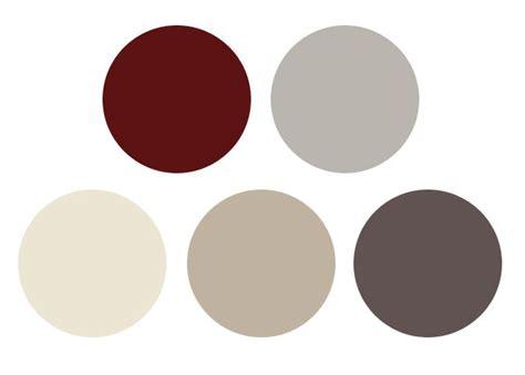 burgundy gray color palette for a vintage