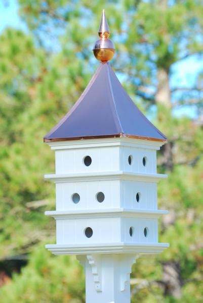 shiny copper roof purple martin birdhouse vinyl 52h x18d