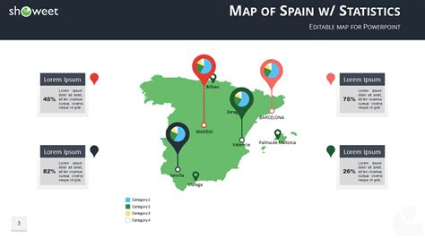 map  spain templates  powerpoint
