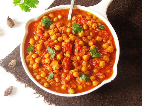 cuisine indienne vegetarienne curry indien de pois chiches
