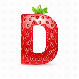 Strawberry style font, letter D Royalty Free Vector Clip ...