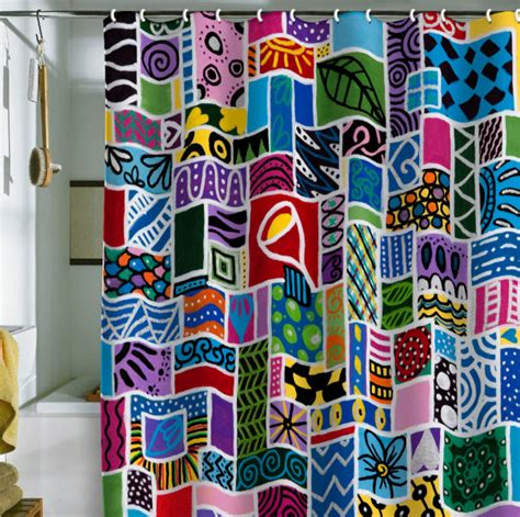 bright colorful kitchen curtains kitchy colorful