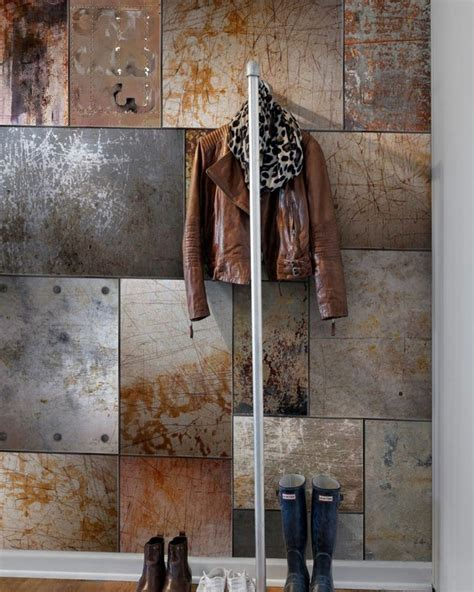 todays inspiration metal panel industrial walls  homes   easy magnet board