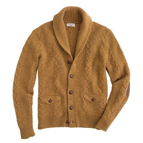 cable cardigan sweater j crew wallace barnes cable cardigan sweater in brown