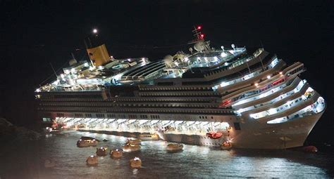 tragic costa concordia cruise liner which capsized killing