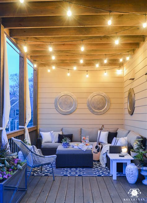 back porch lights a porch makeover and a relaxing date on the deck