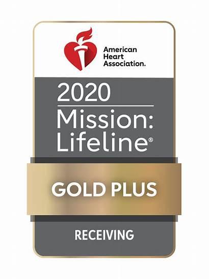 Gold Receiving Plus Lifeline Heart Mission Award