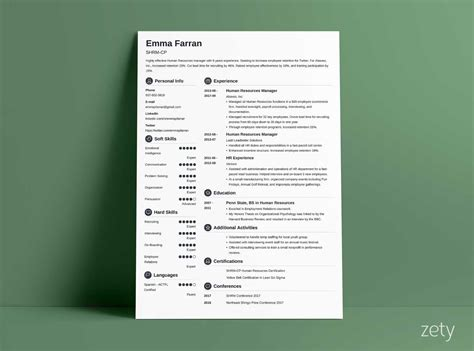 Basic Resume Templates (15+ Examples To Download & Use Now