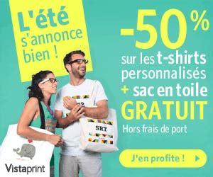 offre sp 233 ciale vistaprint 50 sur les t shirts personnalis 233 s un sac en toile gratuit et de