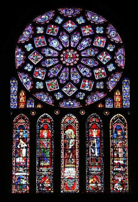 art gothique vitraux rosace  lancette nord de la