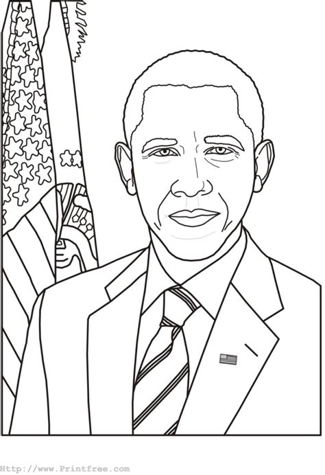 coloring obama pages barack printable presidents president face template getcoloringpages crayola george washington rushmore lincoln sheets