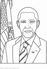 Coloring Obama Presidents Barack Printable President Lincoln Getcoloringpages Crayola George Washington Face John Template sketch template