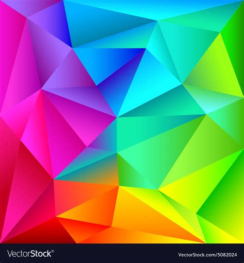Abstract Colorful Geometric Shapes by Colorful Geometric Shapes Pattern Royalty Free Vector Image