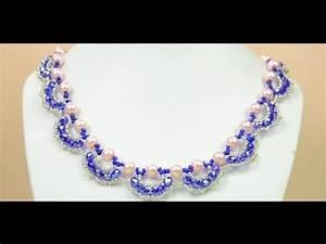 Comment Faire Un Bracelet En Perle : vid o tutoriel faire un collier avec des perles crystal youtube ~ Melissatoandfro.com Idées de Décoration