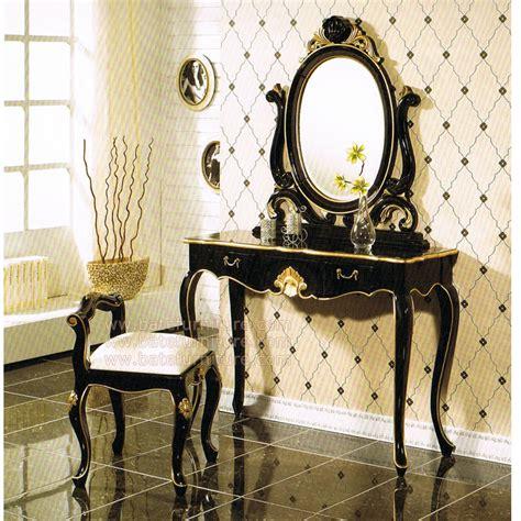 black gold bedroom vanity set indonesia furniture