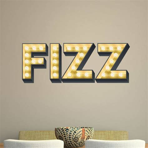 light up wall letters fizz light up letter effect wall sticker by kapow boom 18382