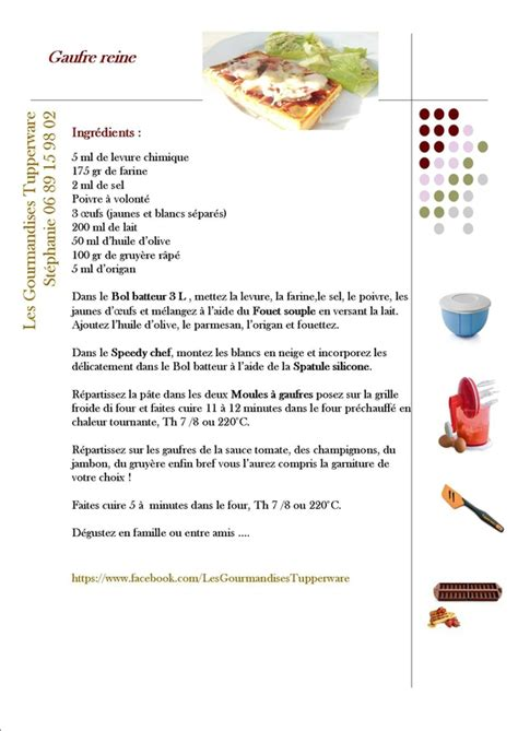 recette de cuisine tupperware gaufre reine les gourmandises tupperware