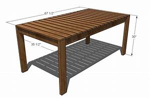 Ana White Simple Outdoor Dining Table - DIY Projects