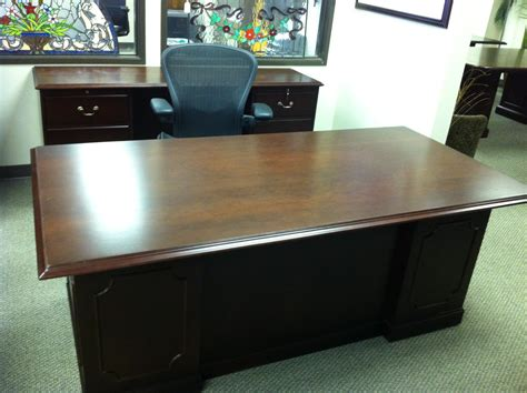 used office furniture dallas 6 walnut executive desk