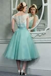 tea length bridesmaid dresses retro vintage style lace organza tea length wedding prom formal dress 2373237 weddbook