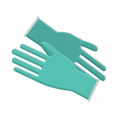 Gloves Latex Vector Glove Surgical Clip Illustrations
