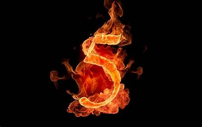 Numbers Fiery Number Fire Letters Wallpapers Flame
