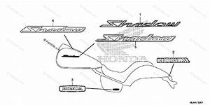 Honda Motorcycle 2013 Oem Parts Diagram For Emblem  2
