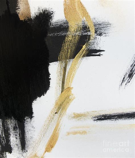 Abstract Black And White Artwork by Gold Black And White Modern Abstract Painting By Wall