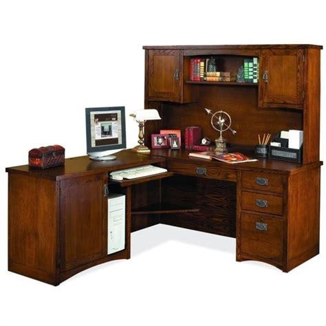 wood desk with hutch martin furniture mission pasadena lhf l shape wood desk